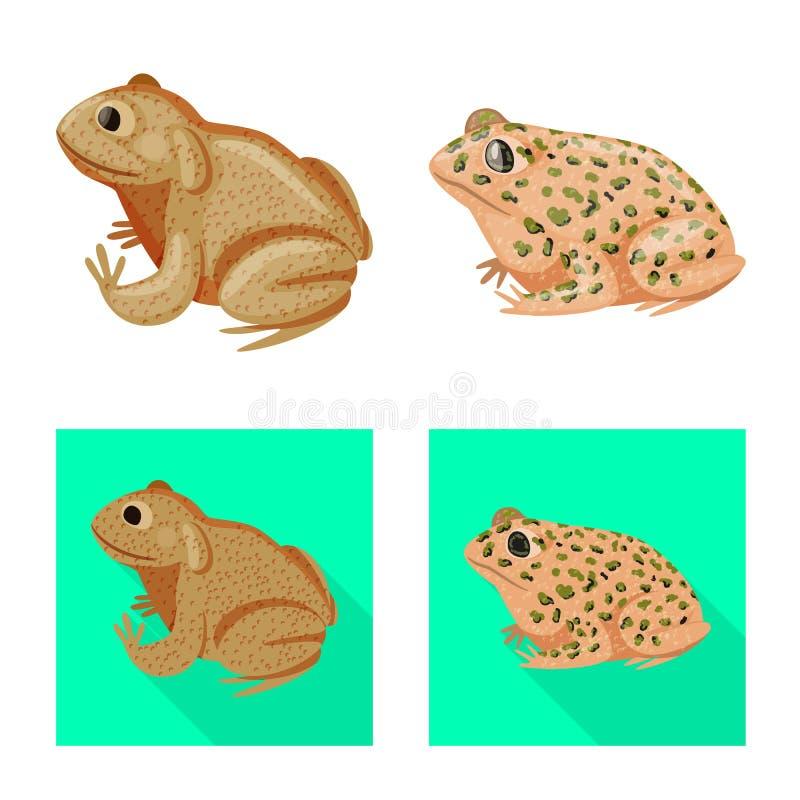 Vektordesign av djurliv- och myrsymbolet St?ll in av illustration f?r djurliv- och reptilmaterielvektor stock illustrationer