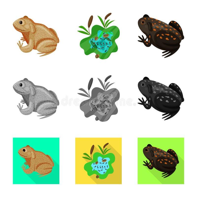 Vektordesign av djurliv- och myrsymbolet St?ll in av djurliv- och reptilvektorsymbolen f?r materiel stock illustrationer