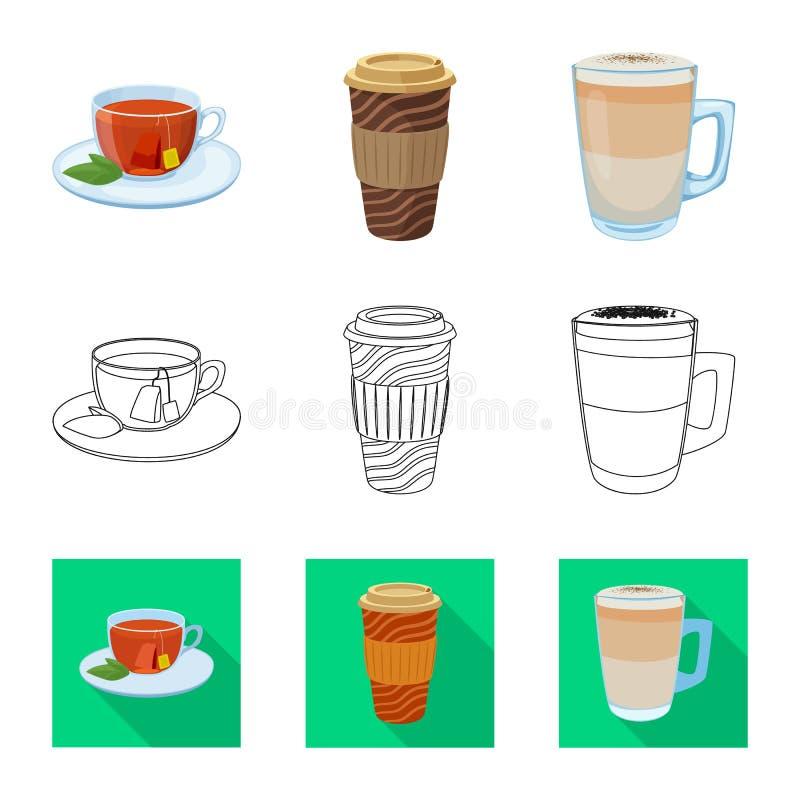 Vektordesign av drink- och st?ngsymbolen Upps?ttning av drink- och partimaterielsymbolet f?r reng?ringsduk royaltyfri illustrationer