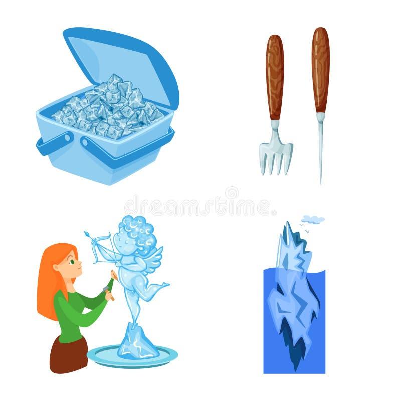 Vektordesign av frost- och vattentecknet r royaltyfri illustrationer