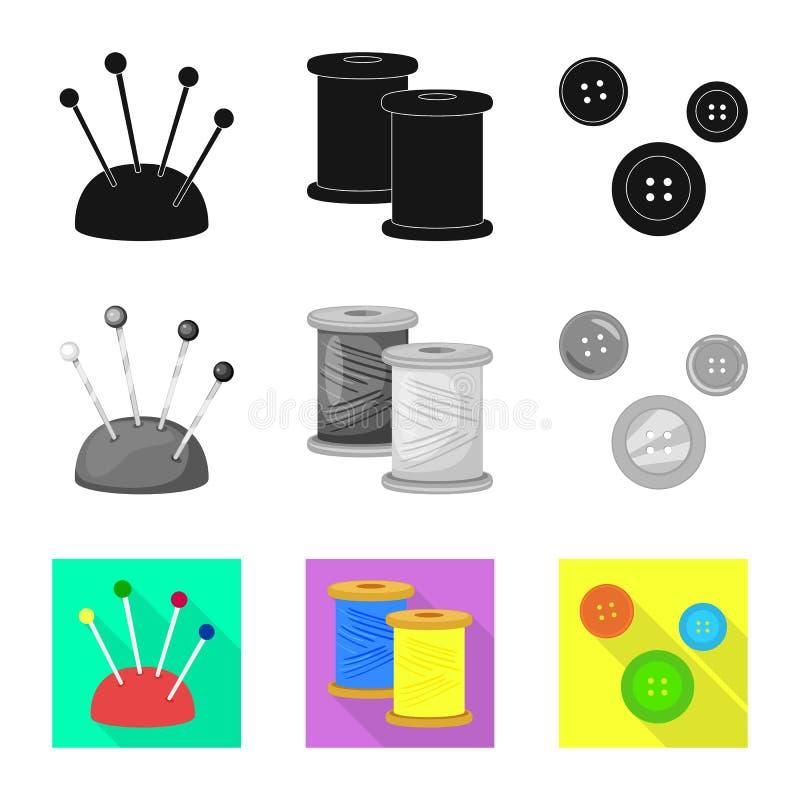 Vektordesign av hantverket och att handcraft symbol Samling av hantverk- och branschvektorsymbolen f?r materiel vektor illustrationer