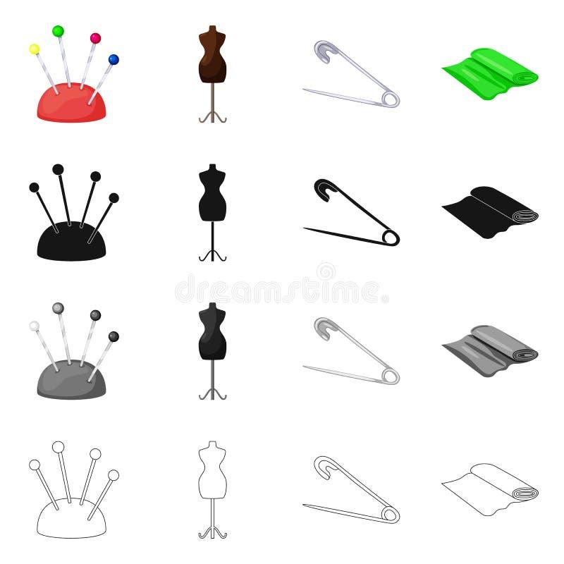 Vektordesign av hantverket och att handcraft symbol St?ll in av hantverk- och branschvektorsymbolen f?r materiel royaltyfri illustrationer