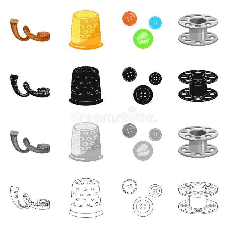 Vektordesign av hantverket och att handcraft symbol St?ll in av illustration f?r hantverk- och branschmaterielvektor stock illustrationer