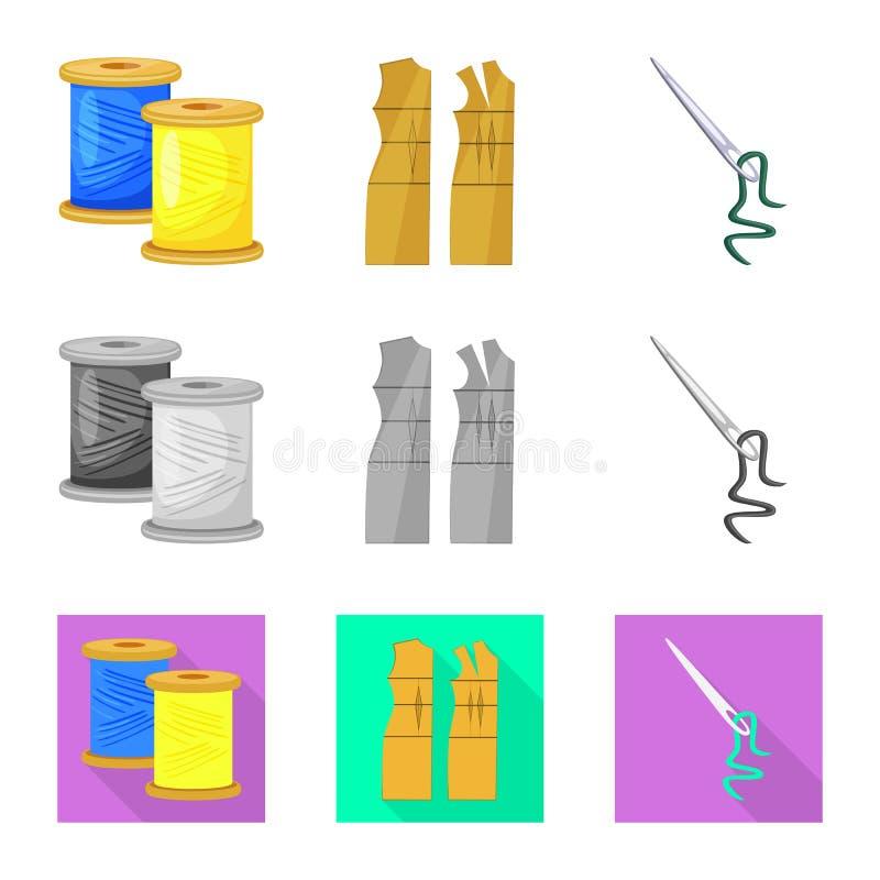 Vektordesign av hantverket och att handcraft symbolen Samling av hantverk- och branschmaterielsymbolet f?r reng?ringsduk royaltyfri illustrationer