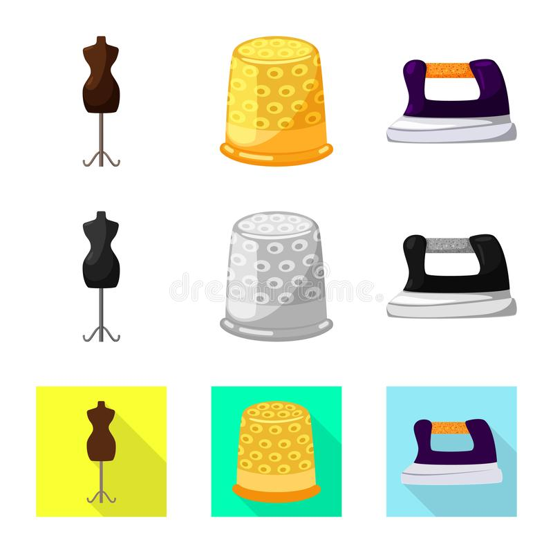 Vektordesign av hantverket och att handcraft symbolen Samling av illustrationen f?r hantverk- och branschmaterielvektor stock illustrationer