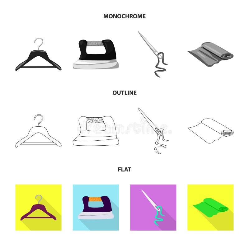 Vektordesign av hantverket och att handcraft symbolen St?ll in av illustration f?r hantverk- och branschmaterielvektor vektor illustrationer