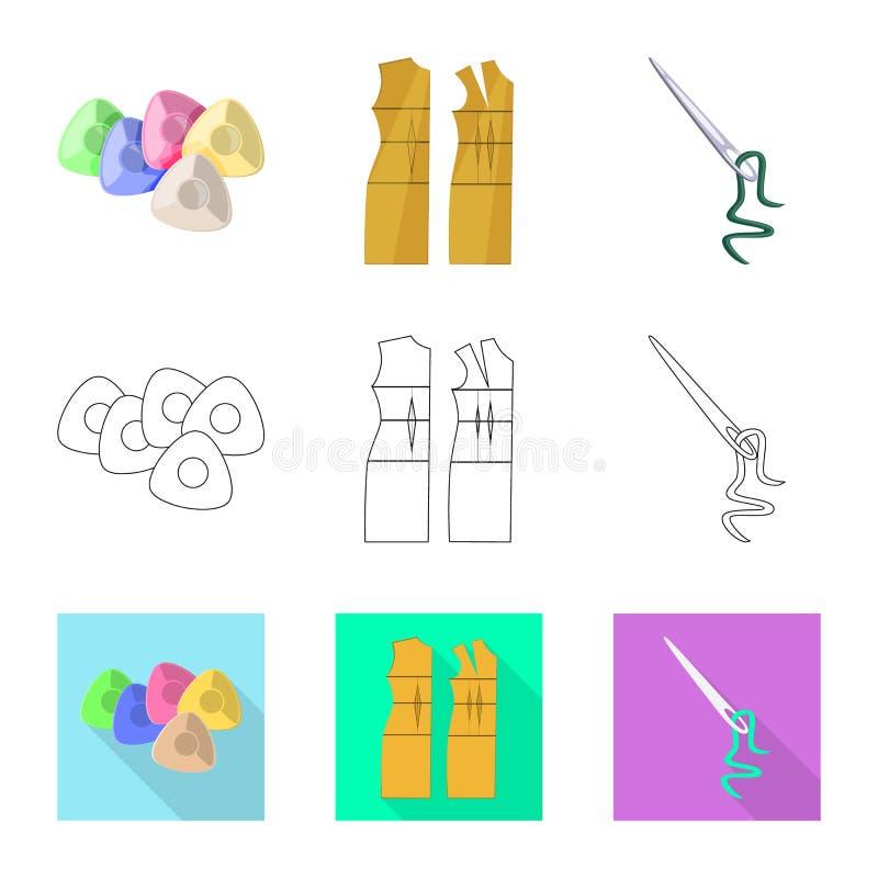 Vektordesign av hantverket och att handcraft symbolen St?ll in av illustration f?r hantverk- och branschmaterielvektor royaltyfri illustrationer