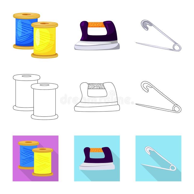 Vektordesign av hantverket och att handcraft tecknet Samling av hantverk- och branschmaterielsymbolet f?r reng?ringsduk vektor illustrationer