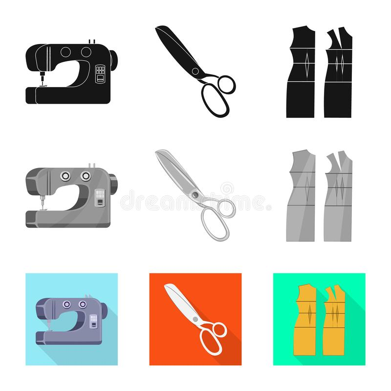 Vektordesign av hantverket och att handcraft tecknet Samling av hantverk- och branschvektorsymbolen f?r materiel stock illustrationer