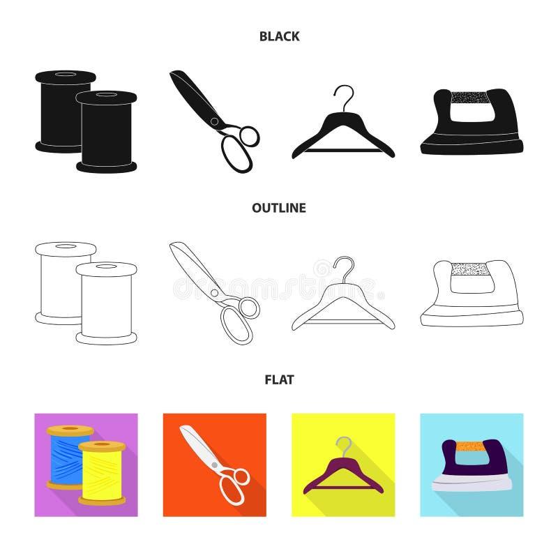 Vektordesign av hantverket och att handcraft tecknet St?ll in av hantverk- och branschmaterielsymbolet f?r reng?ringsduk royaltyfri illustrationer