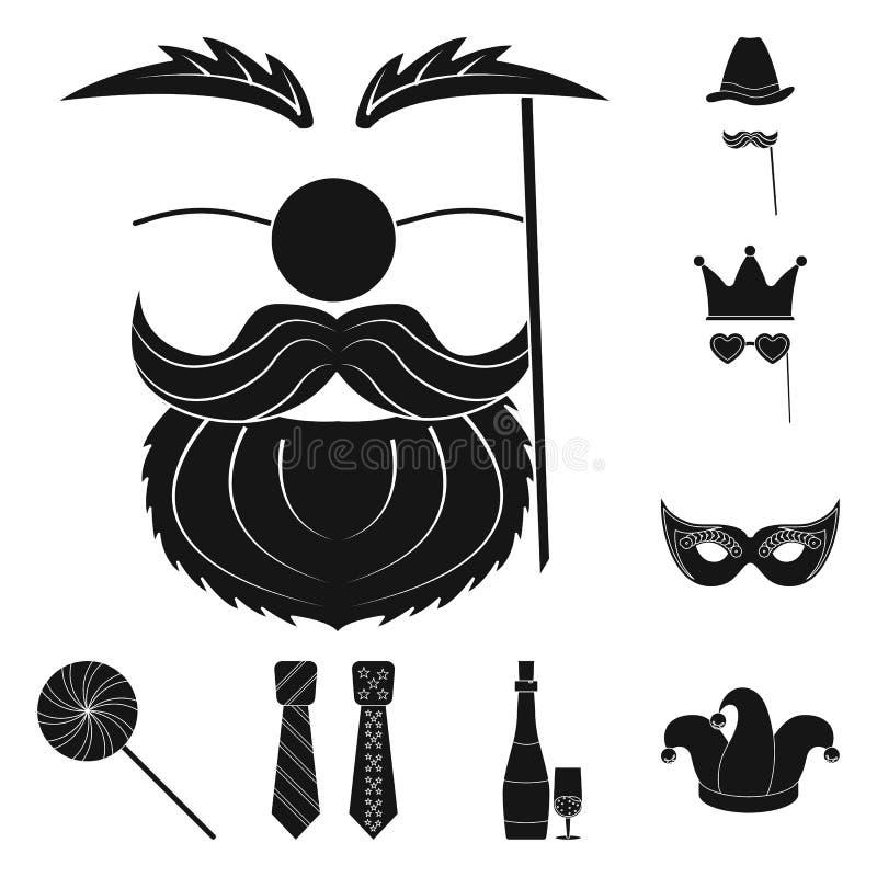 Vektordesign av parti- och födelsedaglogoen Uppsättning av illustrationen för parti- och berömmaterielvektor vektor illustrationer