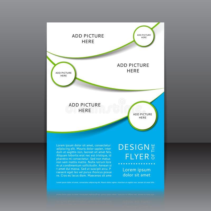 Vektordesign av reklambladet stock illustrationer