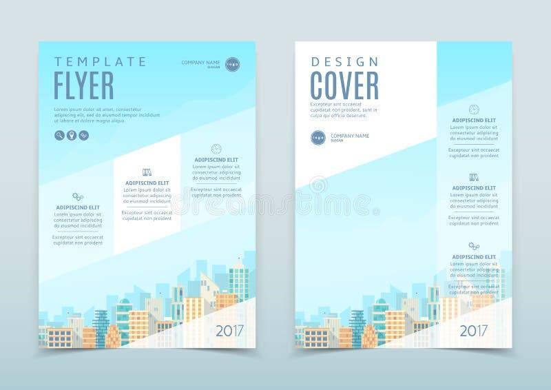 Vektordesign av reklambladmallen stock illustrationer