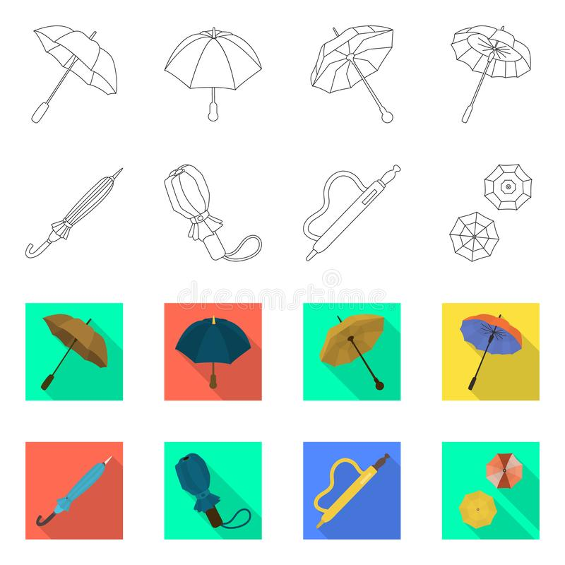 Vektordesign av skydd och det st?ngda tecknet St?ll in av skydd och det regniga materielsymbolet f?r reng?ringsduk stock illustrationer