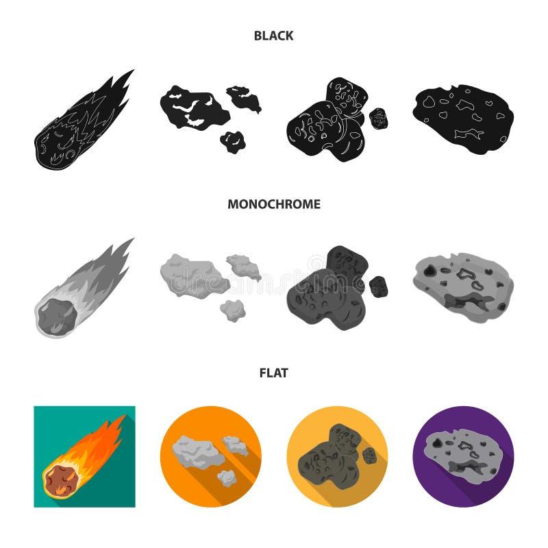 Vektordesign av skytte- och brandlogoen Samling av skytte- och asteroidvektorsymbolen f?r materiel royaltyfri illustrationer