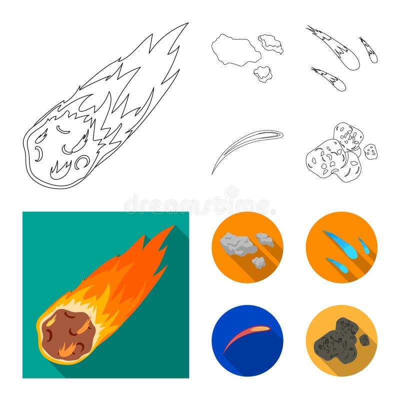 Vektordesign av skytte- och brandlogoen Samling av skytte- och asteroidvektorsymbolen f?r materiel stock illustrationer
