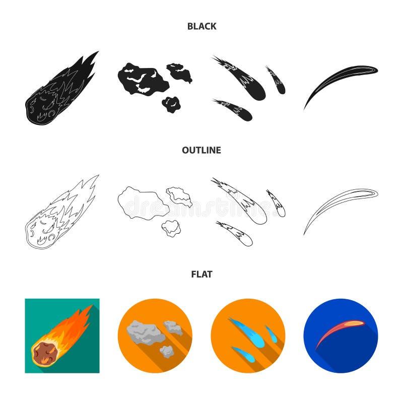Vektordesign av skytte- och brandlogoen Samlingen av skytte och asteroiden lagerf?r symbolet f?r reng?ringsduk stock illustrationer