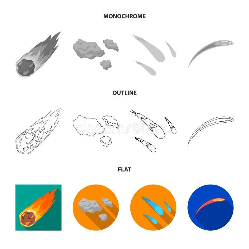 Vektordesign av skytte- och brandtecknet Samling av skytte- och asteroidvektorsymbolen f?r materiel royaltyfri illustrationer