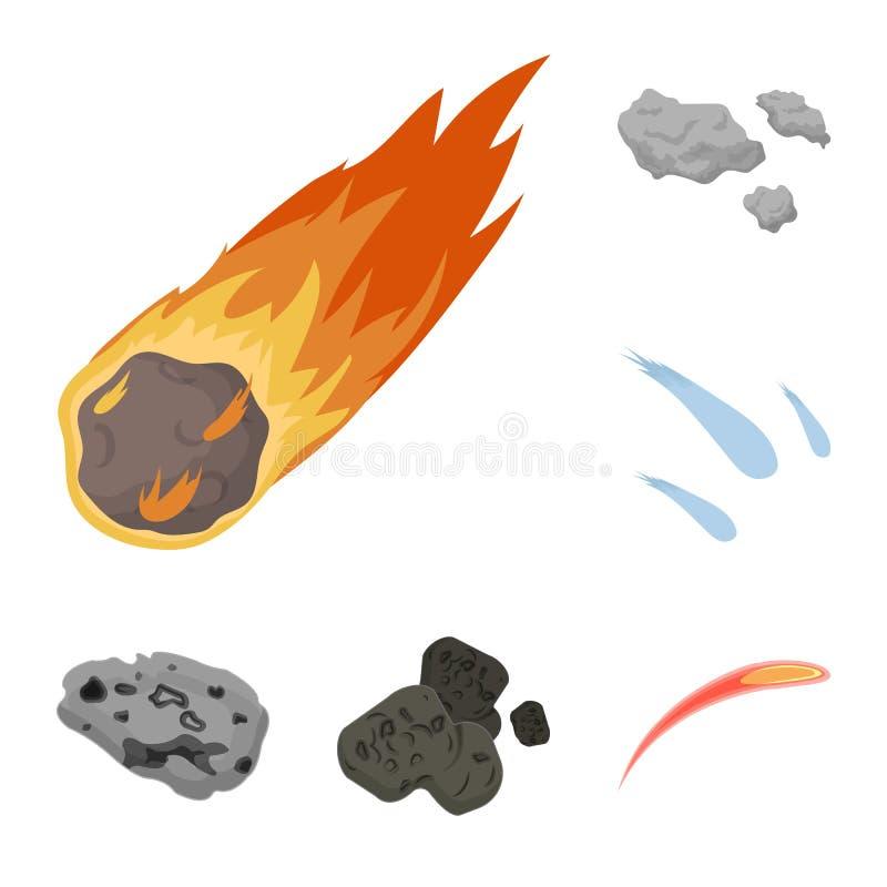 Vektordesign av skytte- och brandtecknet Samlingen av skytte och asteroiden lagerför vektorillustrationen stock illustrationer
