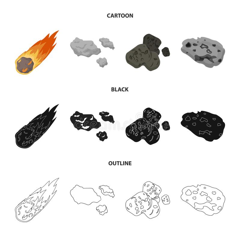 Vektordesign av skytte- och brandtecknet Samlingen av skytte och asteroiden lagerf?r symbolet f?r reng?ringsduk royaltyfri illustrationer
