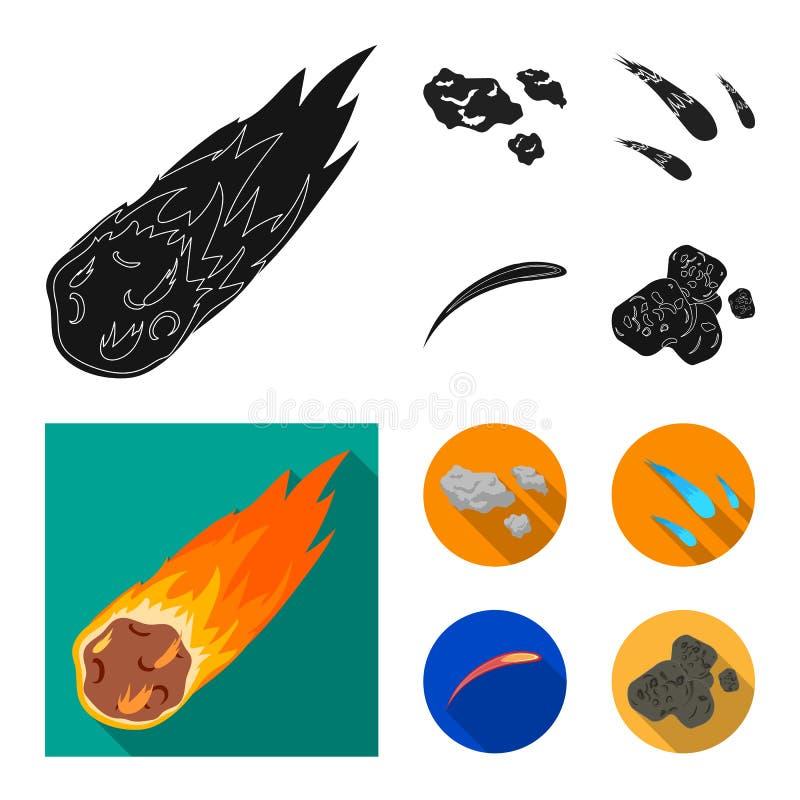 Vektordesign av skytte- och brandtecknet Upps?ttning av skytte- och asteroidmaterielsymbolet f?r reng?ringsduk stock illustrationer
