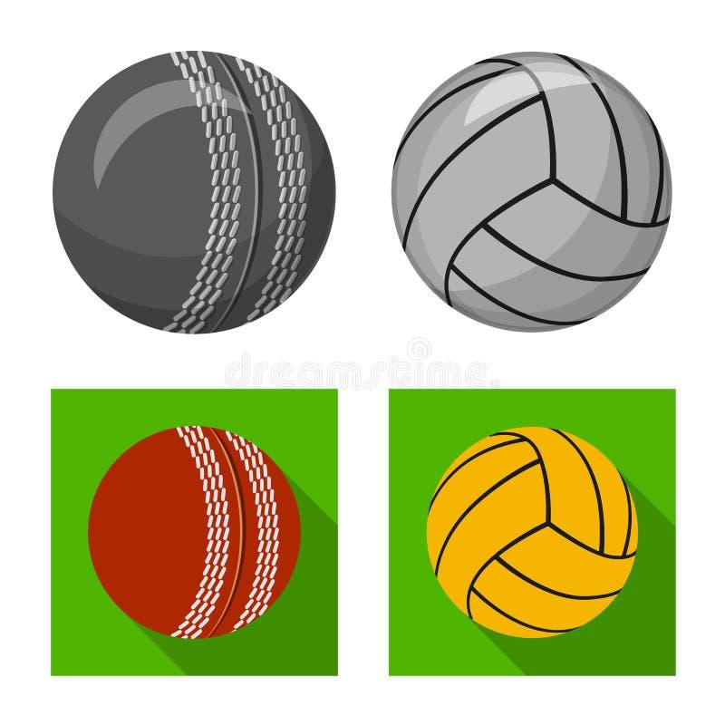 Vektordesign av sport- och bolllogoen Samling av sporten och den idrotts- materielvektorillustrationen royaltyfri illustrationer