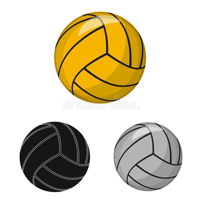 Vektordesign av sport- och bolllogoen Samling av sporten och det idrotts- materielsymbolet f?r reng?ringsduk royaltyfri illustrationer