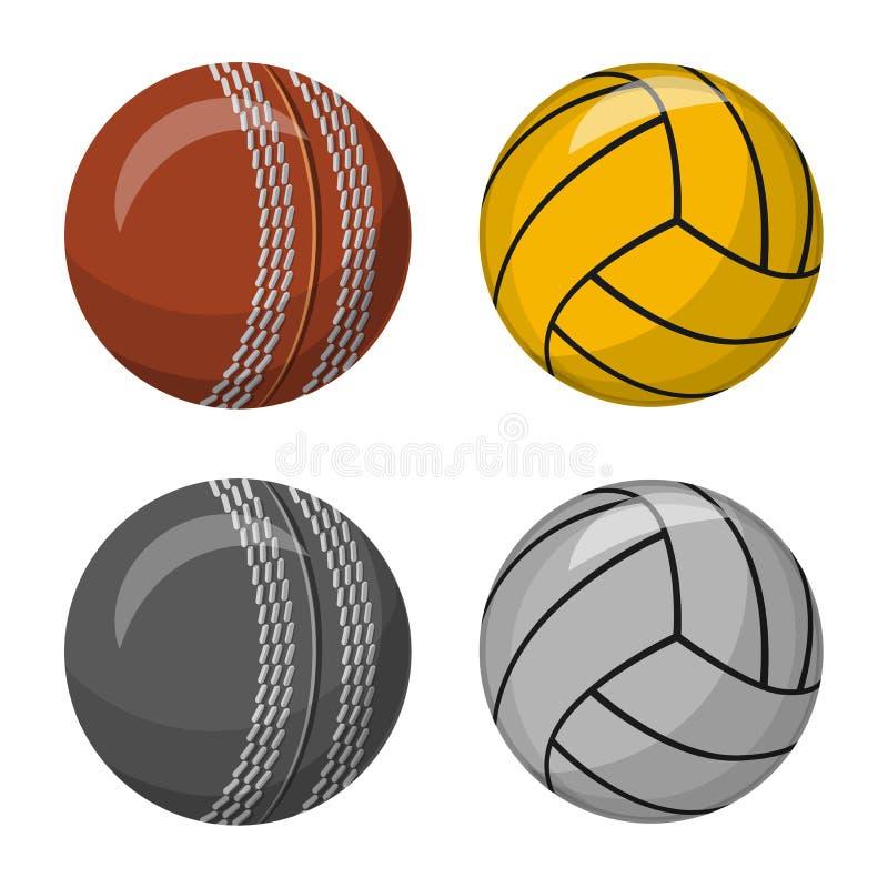 Vektordesign av sport- och bollsymbolet Samling av sporten och idrotts- vektorsymbol f?r materiel stock illustrationer