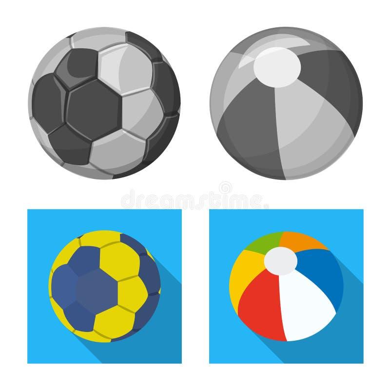 Vektordesign av sport- och bolltecknet Samling av sporten och idrotts- vektorsymbol för materiel vektor illustrationer