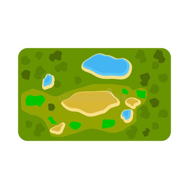 Vektordesign av stadion- och golfsymbolet Samling av stadion och grön vektorsymbol för materiel royaltyfri illustrationer