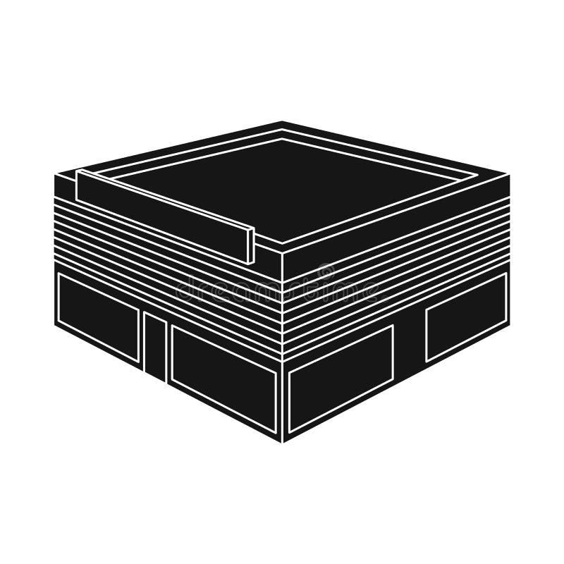 Vektordesign av stormarknaden och att shoppa symbolen Ställ in av illustration för stormarknad- och bokhandelmaterielvektor stock illustrationer