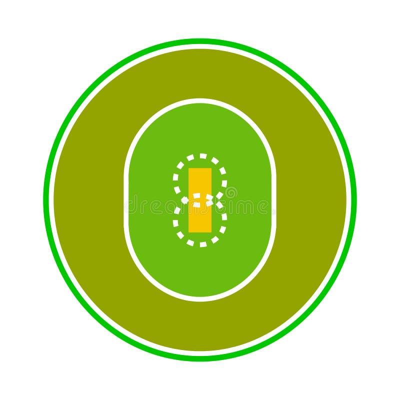 Vektordesign av syrsa- och stadionlogoen Samling av syrsa- och matchvektorsymbolen för materiel stock illustrationer