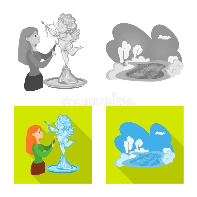 Vektordesign av textur och den djupfrysta symbolen Samling av textur och den genomskinliga vektorsymbolen f?r materiel stock illustrationer