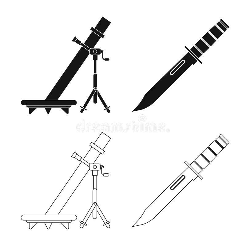Vektordesign des Waffen- und Gewehrsymbols Sammlung der Waffen- und Armeevektorikone f?r Vorrat vektor abbildung