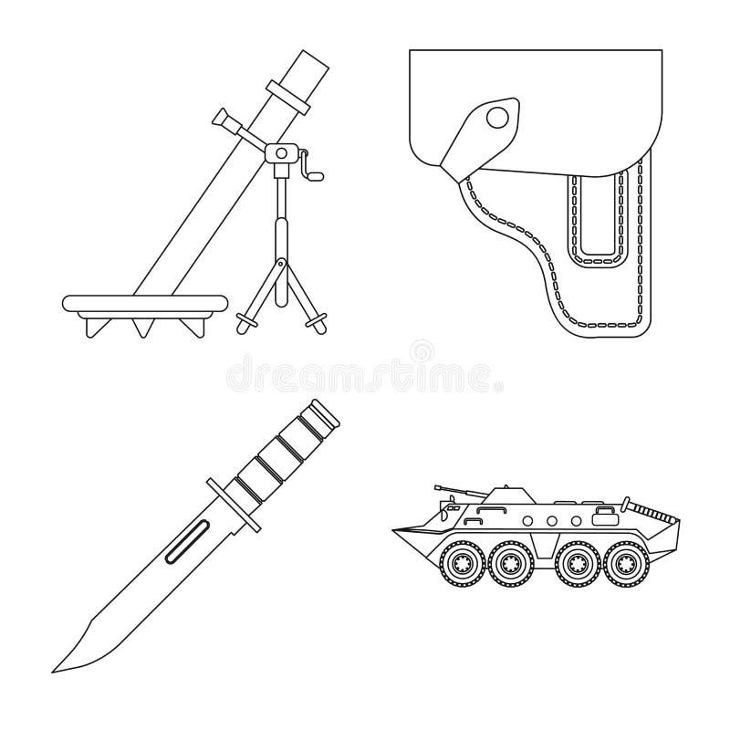 Vektordesign des Waffen- und Gewehrzeichens Sammlung der Waffen- und Armeevektorikone f?r Vorrat lizenzfreie abbildung