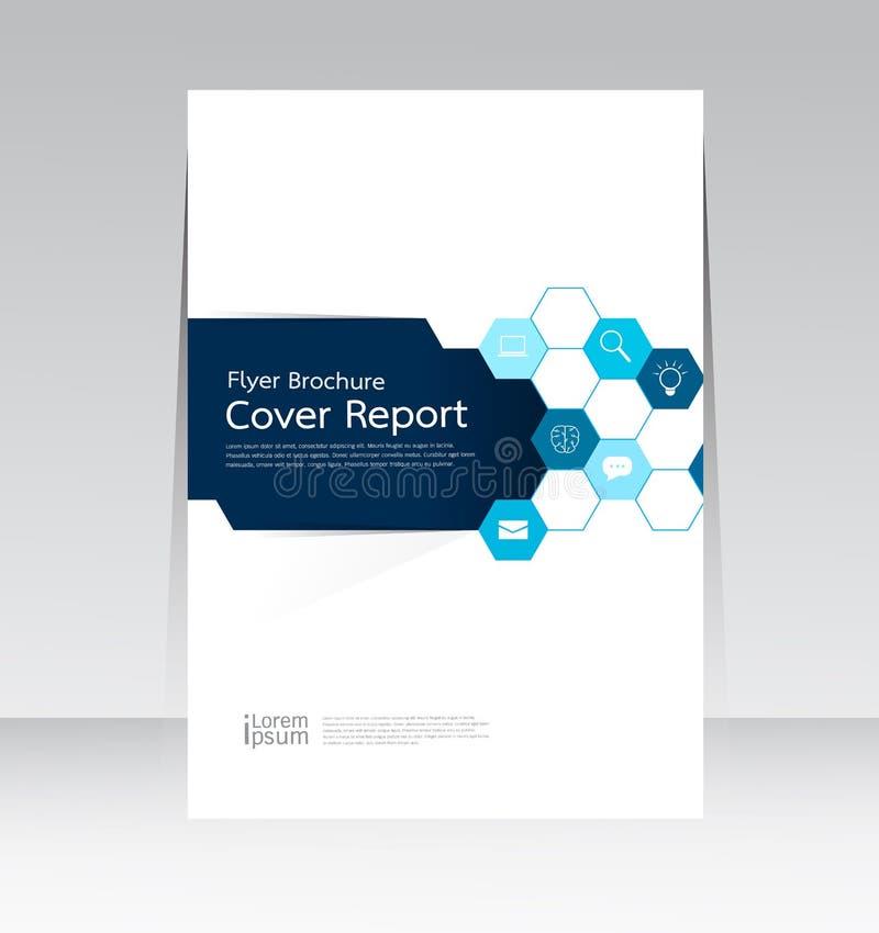 Vektordesign för affisch för reklamblad för räkningsrapport årlig i formatet A4 royaltyfri illustrationer