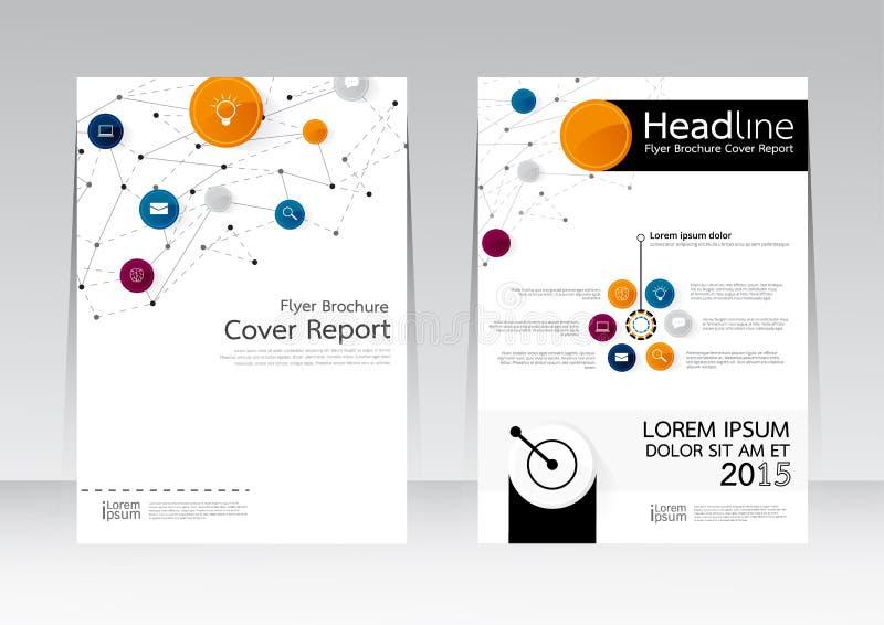 Vektordesign för affisch för reklamblad för räkningsrapportbroschyr i formatet A4 stock illustrationer