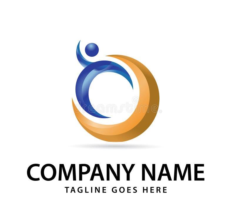 Vektordesign för din företagslogo, abstrakt färgrik symbol Modern 3d logotyp, företags vektor för affär stock illustrationer