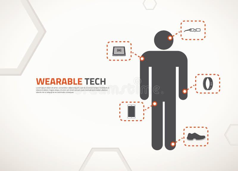 Vektordesign für tragbare Technologie lizenzfreie abbildung