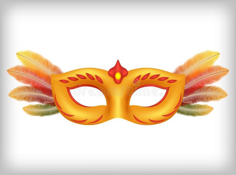 Vektordesignbeståndsdel för maskerad stock illustrationer