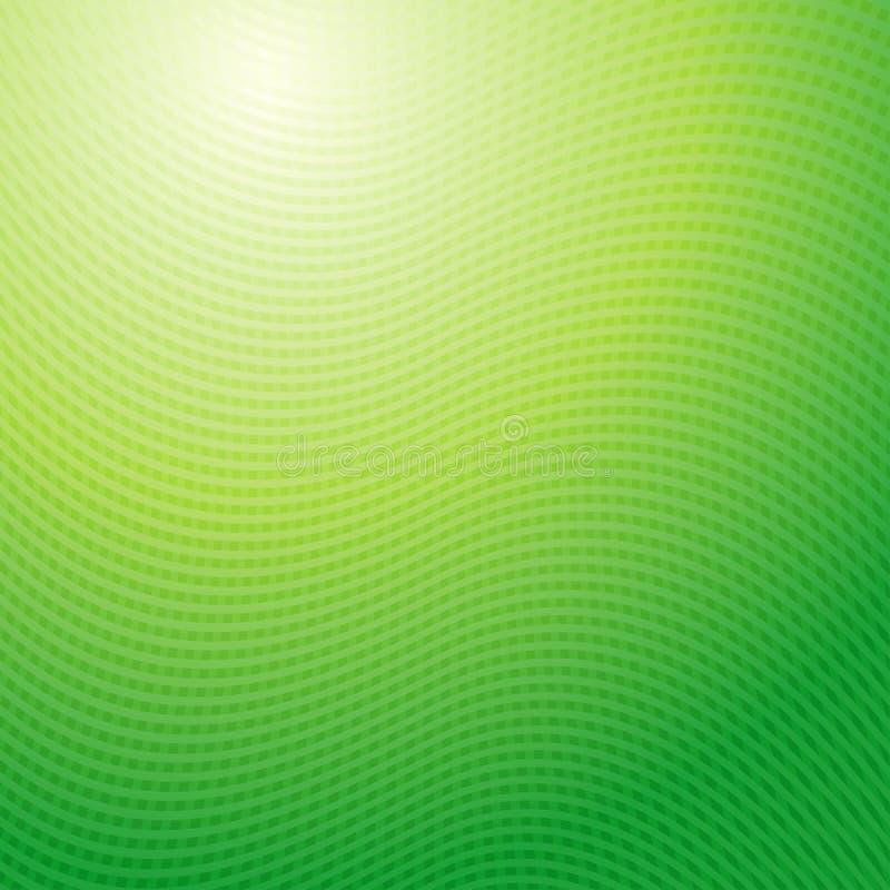 Vektordesignmuster Abstraktes Licht der grünen Wellen stock abbildung