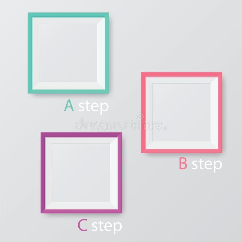 Vektordiagrammall i modern stil vektor illustrationer