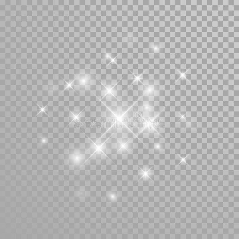 Vektordiamanten blänker mousserar plaskar vektor illustrationer