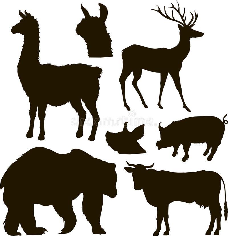 Vektordjurupps?ttning stock illustrationer