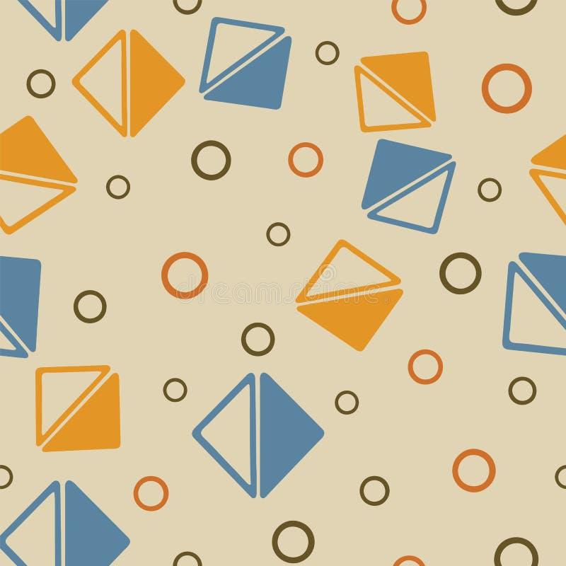 Vektordreieck und -kreis formt geometrisches nahtloses Muster vektor abbildung