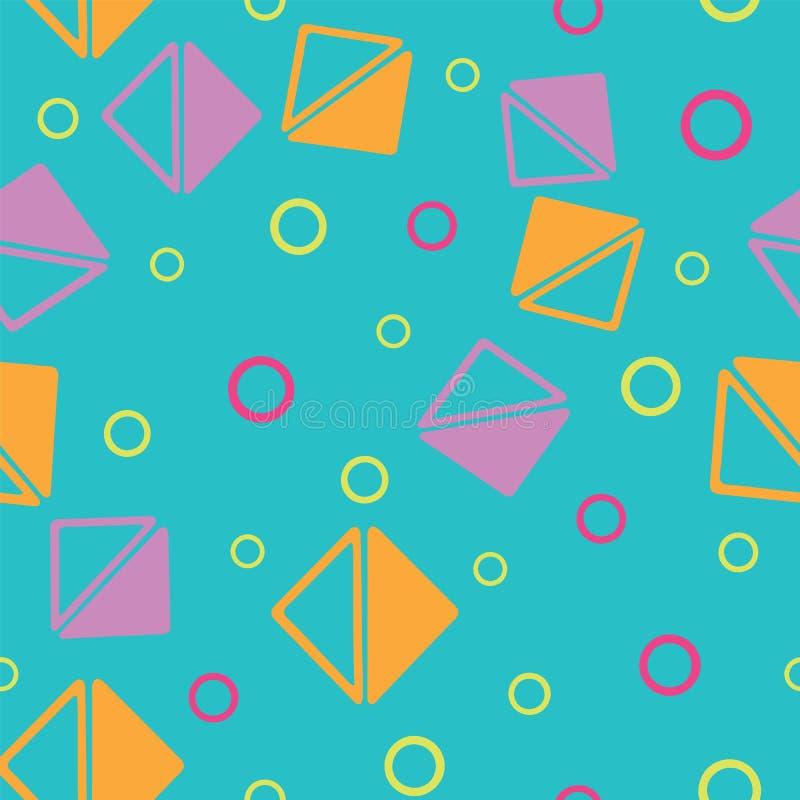 Vektordreieck und -kreis formt geometrisches nahtloses Muster lizenzfreie abbildung
