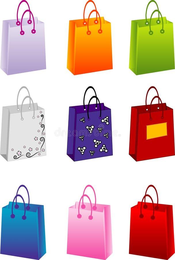 Vektoreinkaufenbeutel lizenzfreie abbildung