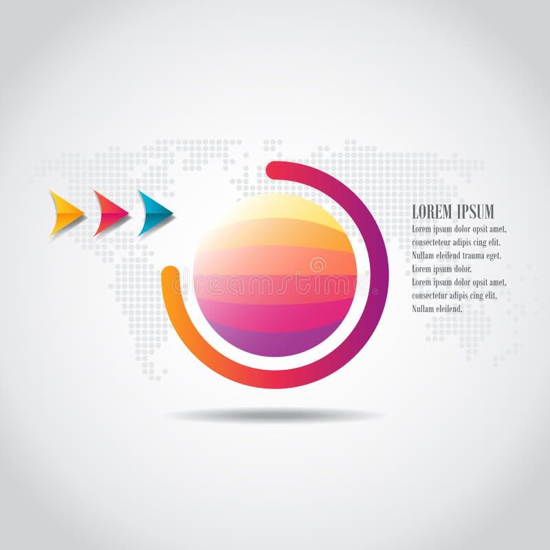 Vektorelemente für infographic lizenzfreie abbildung