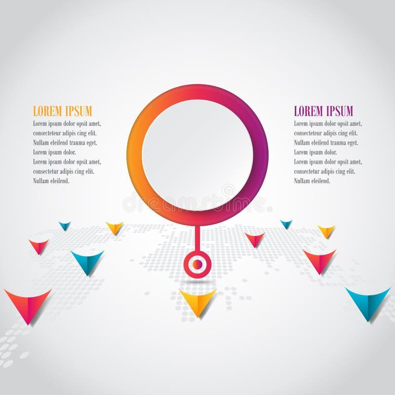 Vektorelemente für infographic Designfahnenschablone stock abbildung
