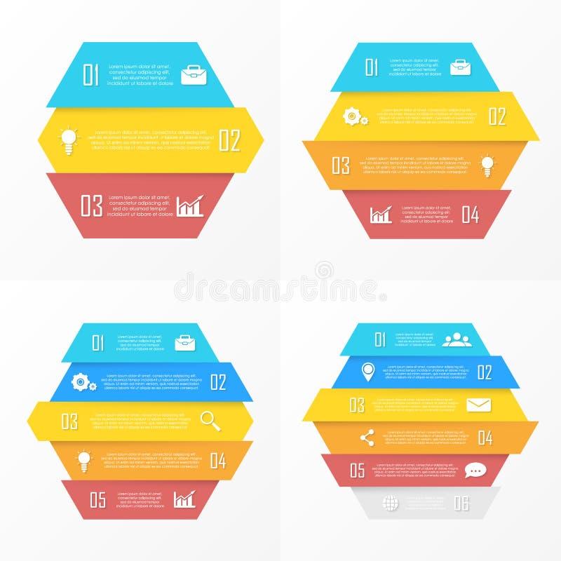Vektorelemente für infographic Geschäftskonzept kann für Diagramm, Broschüre, Diagramm und Webdesign verwendet werden vektor abbildung